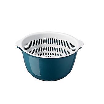 Double Drain Basket Kitchen Accessories Strainer Noodle Vegetable Fruit Plastic Storage Basket