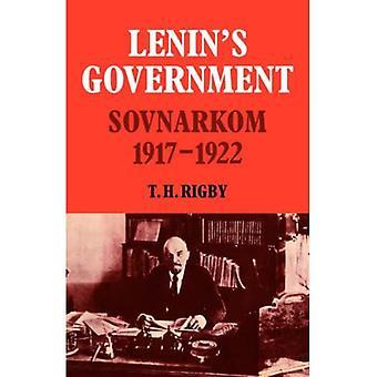 Lenin's Government: Sovnarkom 1917 - 1922 (Cambridge Russian, Soviet and Post-Soviet Studies)