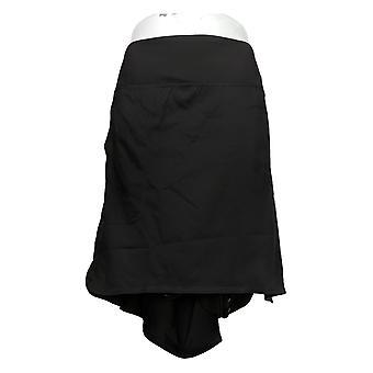 zuda Plus Skirt Z-Eco Cityscape Skort with Pockets Black A381036