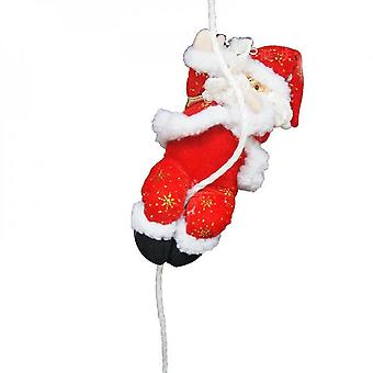 New Christmas Decoration Santa Claus Climbing On Rope For Indoor/outdoor For Home Wall Window Hanging Merry Xmas Ornaments