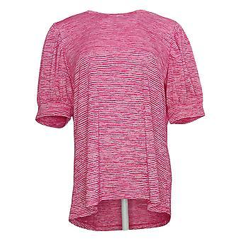 DG2 By Diane Gilman Women's Top Balloon Sleeve Tee Pink 697877