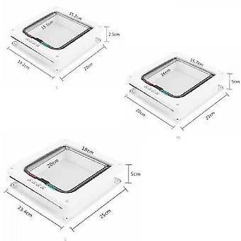 Petmate Large Size White Hatch Cat Flap Four Mode Locking Cat Door Small Dog Easy Installation
