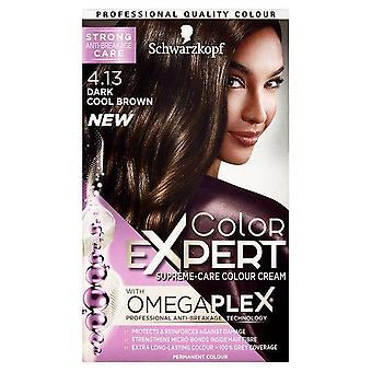 Schwarzkopf Haarverf Kleur Expert 4.13 Donker Koel Bruin Omegaplex Permanent x1