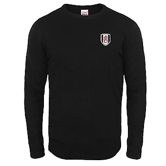 Fulham FC Mens Jumper Knitted Crest OFFICIAL Football Gift
