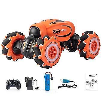 Coche rc de 4 ruedas moticia con música, luz, giro y control remoto de acrobacias de alta velocidad para la deriva fuera de la carretera