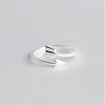 Minimalistisch verstellbarer Silberschmuck geometrische Ringe für Frauen (Syjz026)