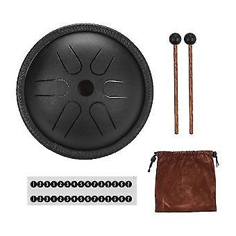 5,5 pouces mini tambour à langue d'acier 6 notes handpan drum steel pocket drum percussion instrument avec