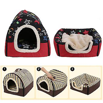 Faltbarer Hund Welpen Katzenhaus Zwinger Nest Bett mit Matte Haustier Reisebett Zelt
