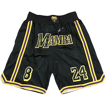 Mode Hommes 8 Mamba 24 Bryant Basket Shorts Sport Extérieur Sandbeach Pantalon Cousu