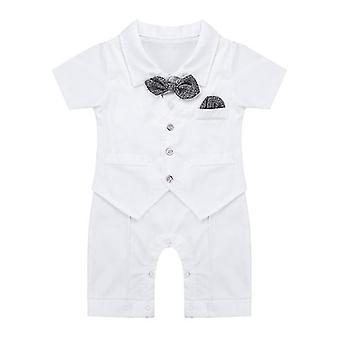 Csecsemő Baby Boys Gentleman Egyrészes pamut rövid ujjú 3-6 hónap