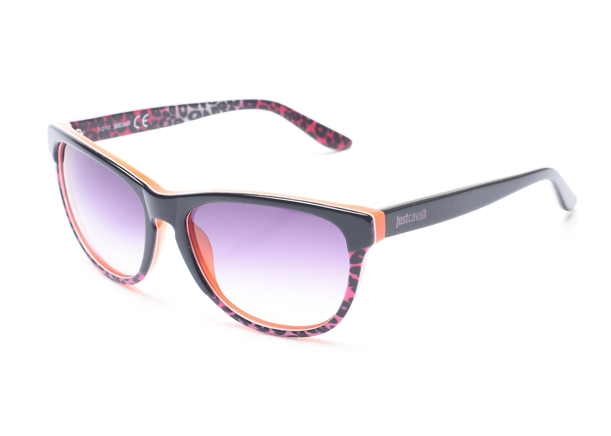Just Cavalli Women's Cheetah Print Classic Style Sunglasses Black/Orange/Cheetah