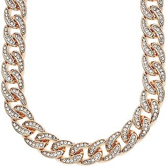 Iced Out Hip Hop Bling CZ Panzerkette - 12mm rose gold