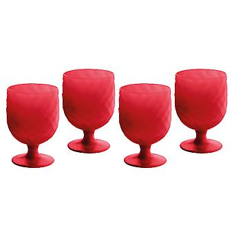 Epicurean Tropicana Red Acrylic Goblet Set of 4