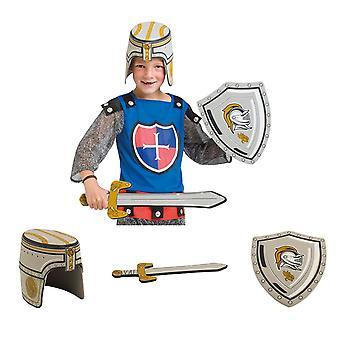 Ritter Waffen Set 3-teilig Schwert Helm Schild Moosgummi zum Ritter Kostüm