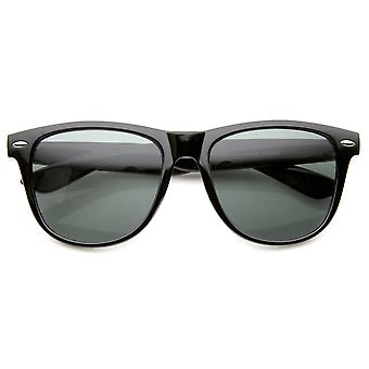 Large Retro Classic Glass Lens Casual Horn Rimmed Sunglasses 54mm