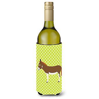 Miniatura Mediterráneo burro verde botella de vino Beverge aislador Hugger