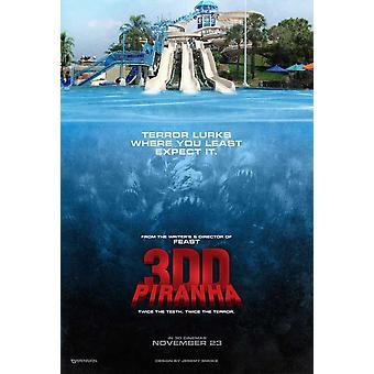 Piranha 3DD elokuvajuliste (11 x 17)