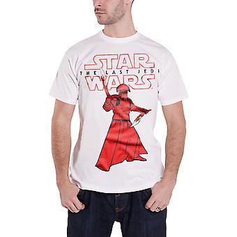 Star Wars T Shirt den sidste Jedi Prætorianergarden nye officielle Herre hvid