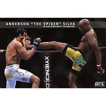 UFC - アンダーソン シルバ ポスター ポスター印刷