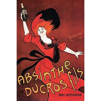 Absinthe Ducros Fils Poster Print by Leonetto Cappiello (24 x 36)