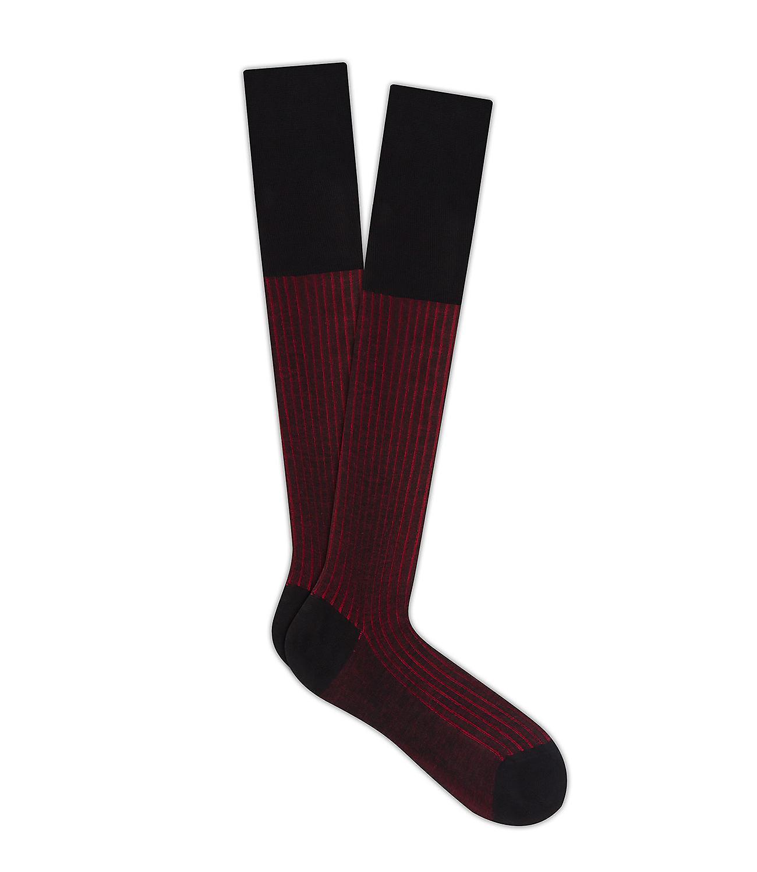 Milano, Two Tone geribbeld katoen Lisle sokken