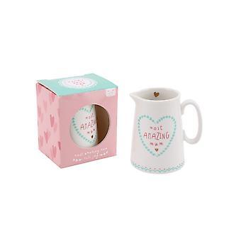 CGB Giftware Worlds Best Mum Most Amazing Mum Milk Jug