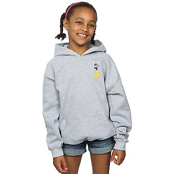 Disney Princess Girls Snow hoodie peito branco