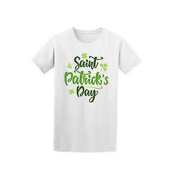 Saint Patrick's Day Green Cursive Quote Tee - Image by Shutterstock