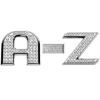 Luxbling car chrome 3D letter with Swarovski crystals A-Z