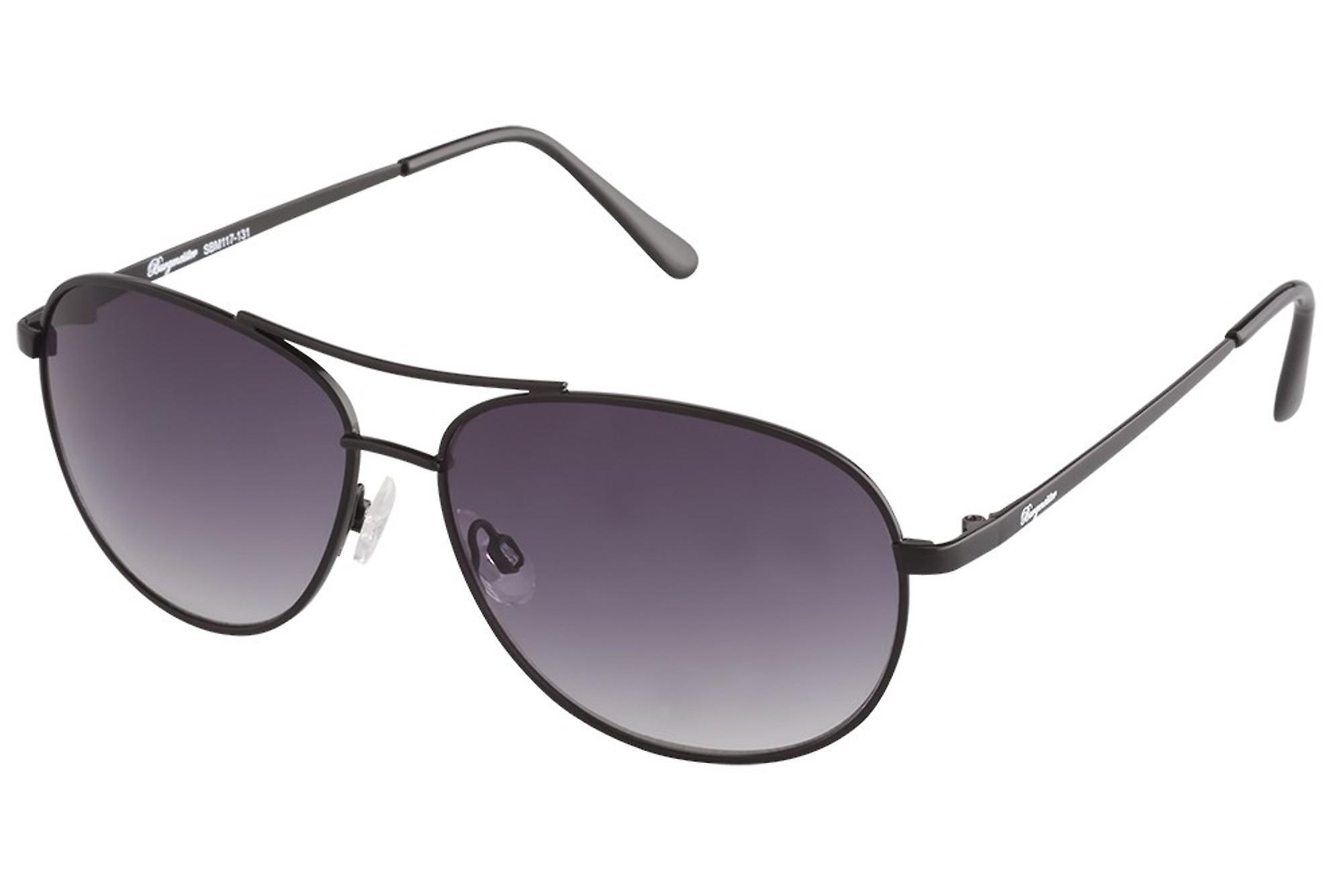 Classic sunglasses for men by Burgmeister with 100% UV protection | sturdy metal frame, high quality sunglasses case, microfiber glasses pouch and 2 year warranty | SBM117-131 Monaco