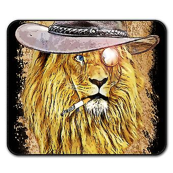 Smoking Lion Beast  Non-Slip Mouse Mat Pad 24cm x 20cm | Wellcoda