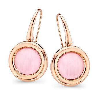 Orphelia Silver 925 Earring Rose Gold Hook Pink Zirconium  ZO-7197/PI