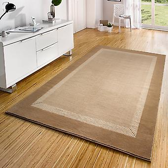 Design velour carpet band cream beige