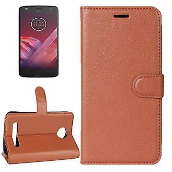 Kieszeni portfel premium Brown dla Motorola Moto Z2 grać ochrony tulei pokrywy obudowy pokrowiec Nowość