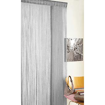 Country Club String Door Curtain, Glitter Grey