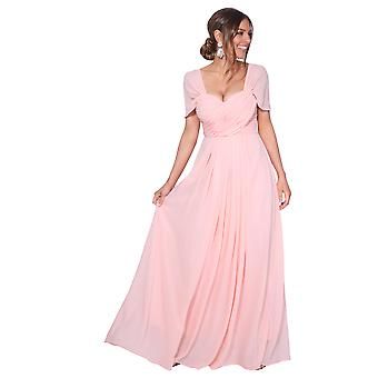 KRISP المرأة على قبالة الكتف مساء الزفاف طويل فستان وصيفه الشرف ماكسي حفلة موسيقية 8-20