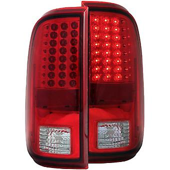 Anzo USA 311050 Ford Super Duty rot/klar LED Tail Light Assembly - (paarweise)