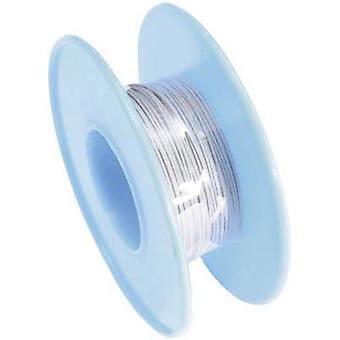 Conrad onderdelen 606492 kronkelende draad Wire Wrap 1 x 0.08 mm² grijs 15 m