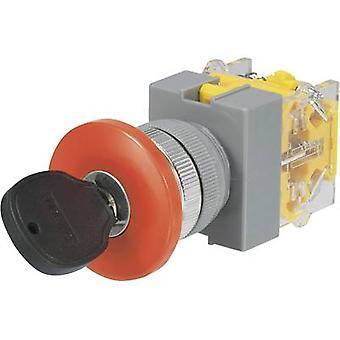 Commutatore a TRU componenti Y090-A-11YM/23 chiave 250 V AC 5 1 x Off/(On) 1 x 90 ° 1/PC