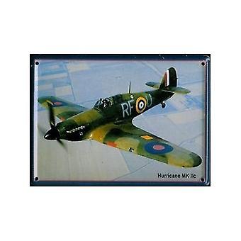 Hawker Hurricane Mkii Metal pocztówka / Mini Zarejestruj / magnes na lodówkę
