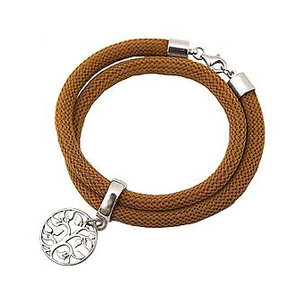 -Armband - armband - 925 Silver - livets träd - Brown