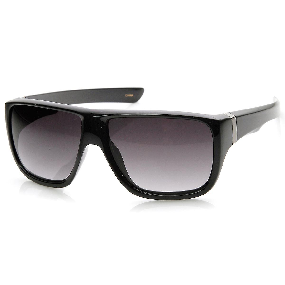 1f42a5af4 Premium Quality Large Flat Top Aviator Sunglasses   Fruugo