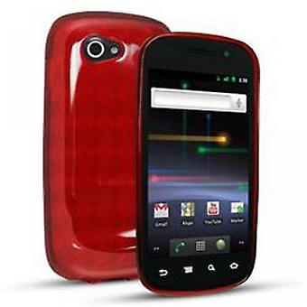 Sprint Slider Skin Case Cover for Samsung 9100 Nexus S (Red) - SA9100SSRD-Z