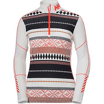 Helly Hansen dame/damer Lifa aktiv grafisk halvdelen Zip Baselayer Top