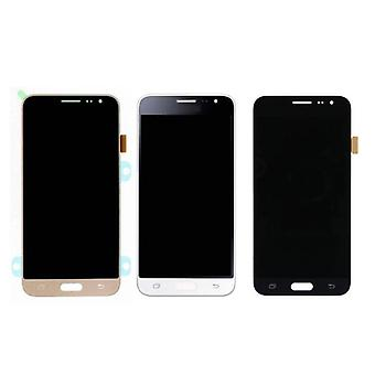 Stuff Certified® Samsung Galaxy J3 2016 Screen (Touchscreen + AMOLED + Parts) A + Quality - Black / White / Gold