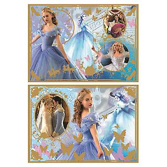 Disney Cinderella Gold Foil 2-in-1 Jigsaw Puzzles (50 & 70 Pieces)