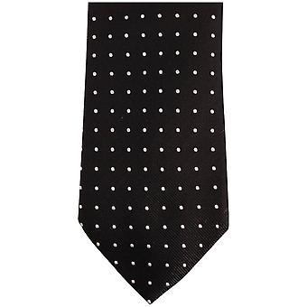 Bassin y marrón medio punto corbata de seda - negro/gris