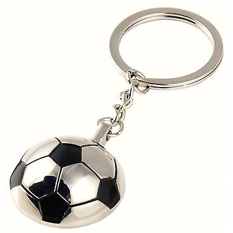 Bassin and Brown Football Keyring - Silver/Black