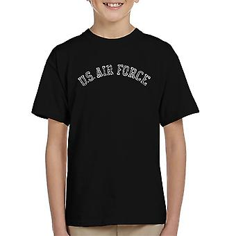 US Airforce Training White Text Distressed Kid's T-Shirt