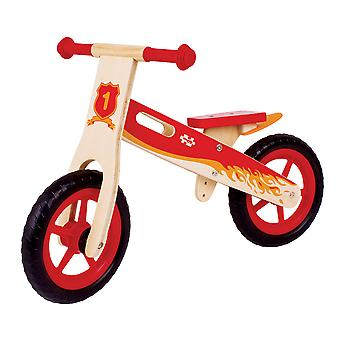 Bigjigs Toys Wooden My First Balance Bike (Pink) Stable Running Kids Toddler